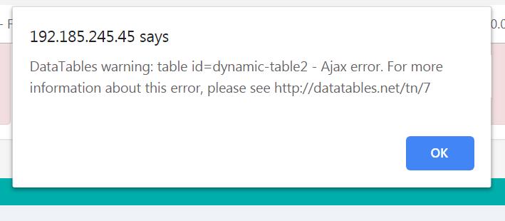 Arabic search generate 500 Server error — DataTables forums