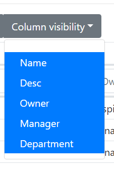 colvis dropdown active is too blue on Bootstrap4 — DataTables forums
