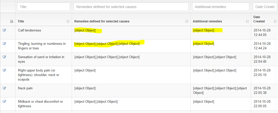 DataTable is showing object object in columns — DataTables