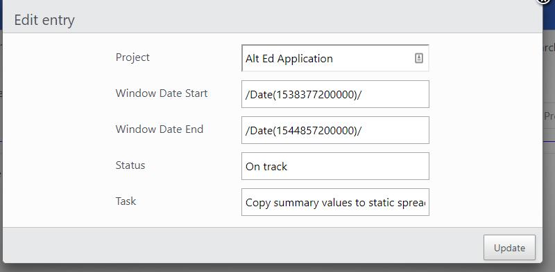 Using GetFormatter to Convert JsonDate to date string — DataTables