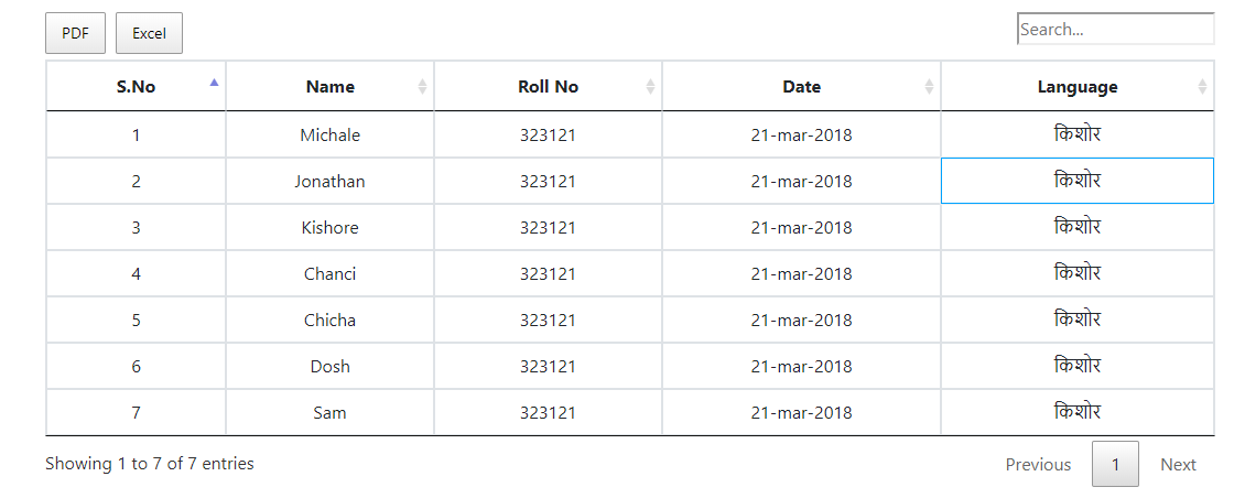 PDF Export Mulitple Languages in single grid — DataTables forums