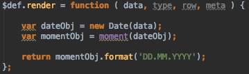 Datatables Sorting: datetime-moment doesn't work with 'DD MM
